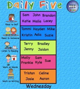 DAILY FIVE ASSIGNMENTS INTERACTIVE SMARTBOARD 12 PAGES - TeachersPayTeachers.com