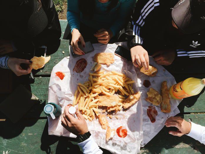 Fish and Chips, Raglan, New Zealand