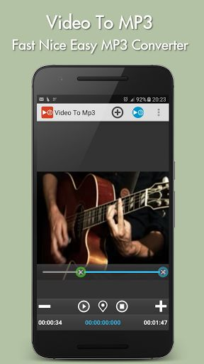 Video to mp3 Premium v2.2   Video to mp3 Premium v2.2Requirements:Varies with deviceOverview:Convert video to Mp3 and AAC.  Convert video to Mp3 and AAC - Extract MP3 from your favorite videos and save them as music on your phone! - Extract music from movies and save them as ringtone. Usefull when you want to set the greatest quotes of your favorite movies as ringtone.  very easy to use with a visual editor. you can set a start and end timestamp to only extract a part of the soundtrack…