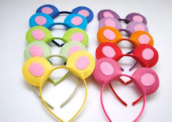 Bear ears to make with felt & hairbands!