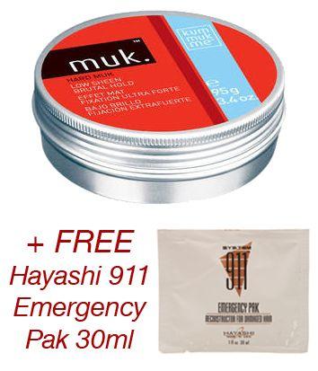 HAIR 2 GO - Muk - Hard Muk 95g   FREE 911 Emergency Pak 30ml, $23.95 (http://www.hair2go.com.au/muk-hard-muk-95g-free-911-emergency-pak-30ml/)