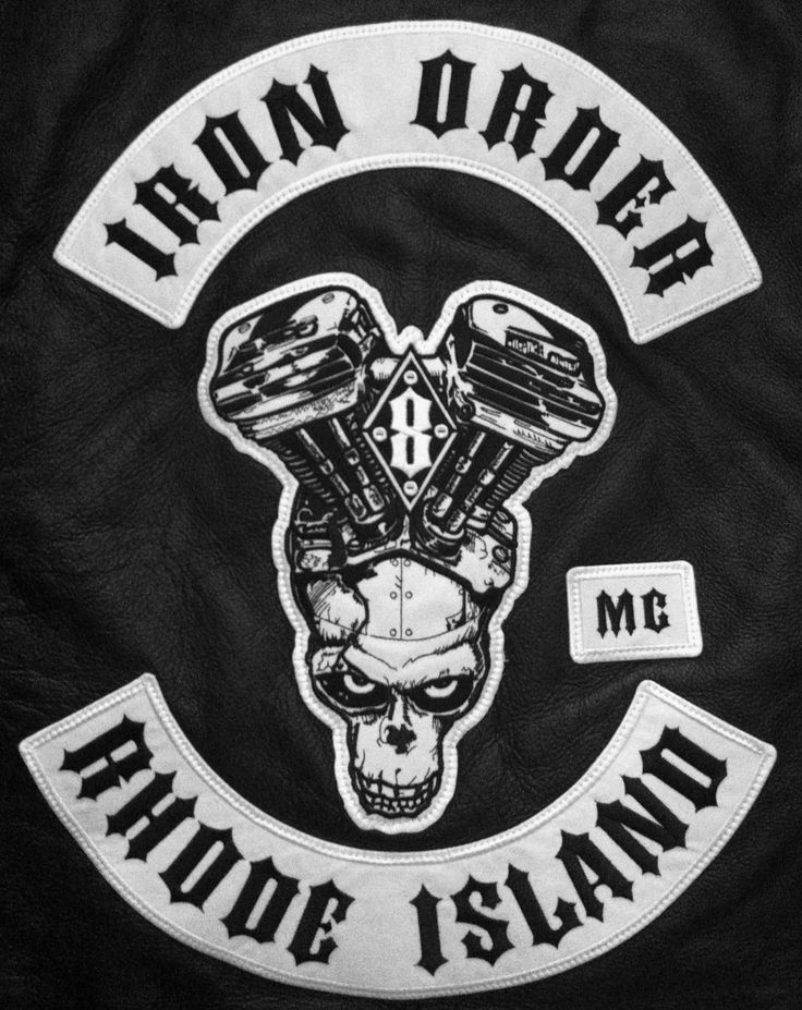 Red dragons mc club patches