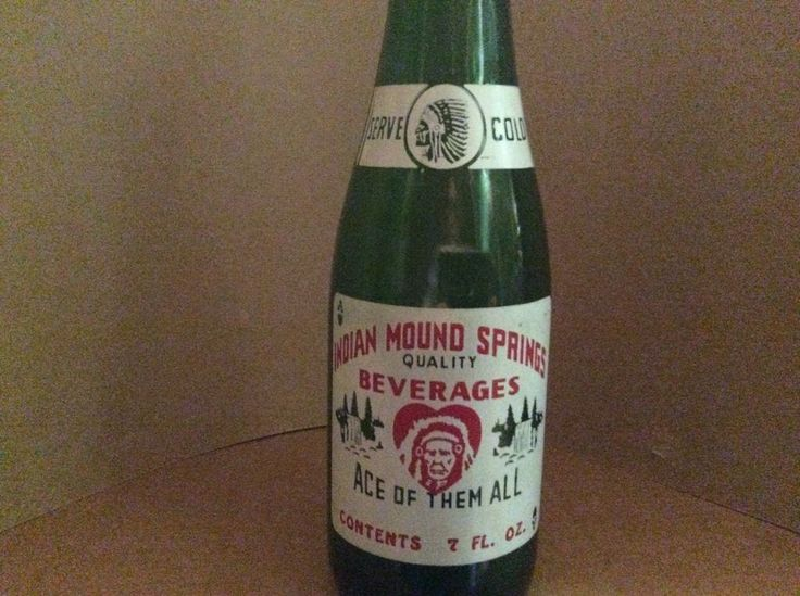 Indian Mound Springs Beverages ACL Soda Bottle - 7 oz. Bridgeville, PA