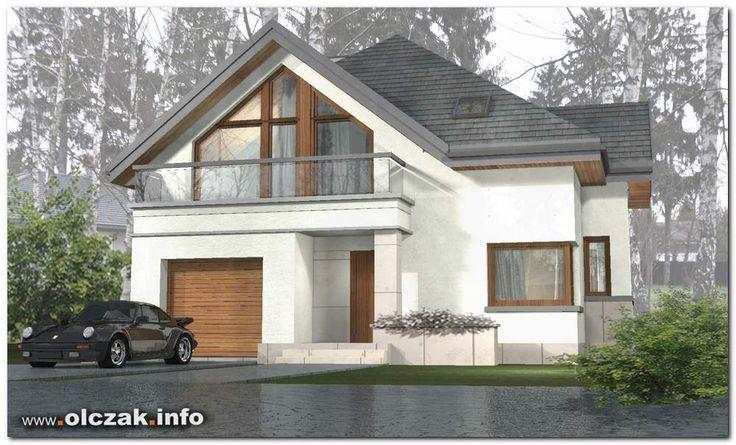 Architekt Maciej Olczak - projekt domu z trójkątnymi oknami