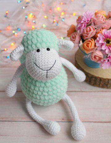 Juguete de oveja de felpa de ganchillo - patrón de amigurumi GRATIS