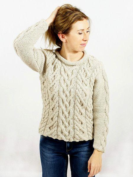 Cabled Pullover w Ikat - Knitwear & Accessories na DaWanda.com