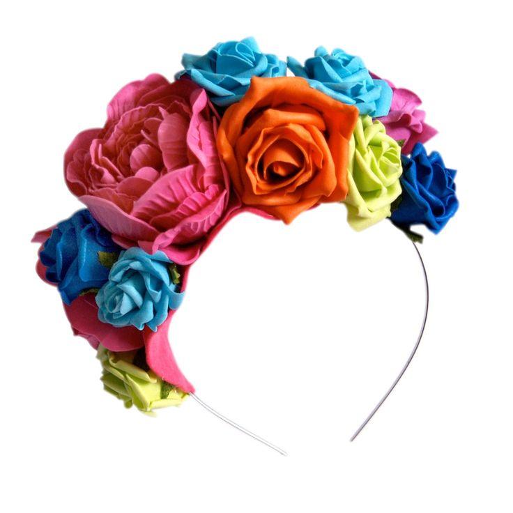 Image of Lisa Bright Rose Headband - Huge