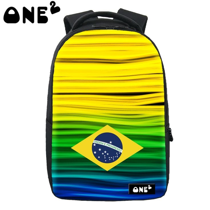 (59.90$)  Buy here  - 2016 ONE2 Design cheap Flag of Brazil laptop bag waterproof computer camel active amazing leisure backpack