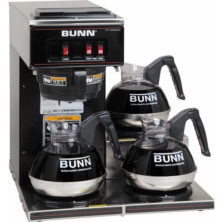 BUNN Commercial Coffee Maker Pourover Brewer ~ VP17-3BLK Machine w/ 3 Warmers #Bunn #CoffeeBrewer