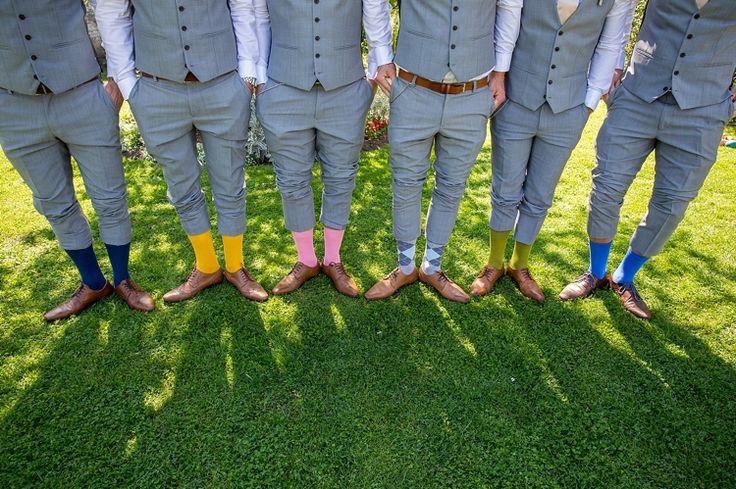 Groomsmen Socks Pastel Country Garden Wedding http://www.katherineashdown.co.uk/