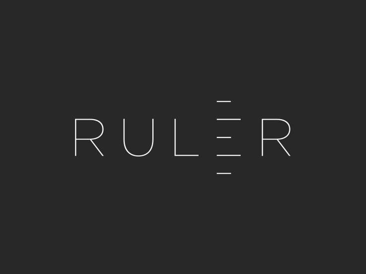 Ruler ( ver.2 ) by Aditya Chhatrala #logo #minimal #simple #idea #clever #diy #dribbble #inspirational #inpirations #awesome #ruler