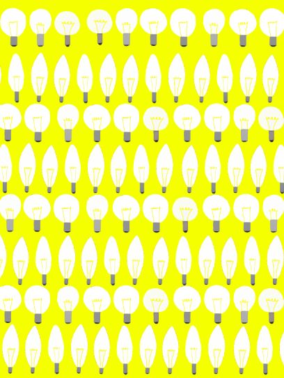 Bulb pattern. I tried to use different shapes of bulbs so they look better.