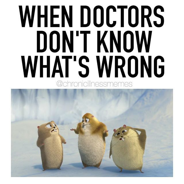 Instagram photo by chronicillnessmemes - Can you relate?! I've seen so many doctors over the years and some of them definitely looked at me this way! It's so frustrating when doctors dismiss you, don't believe you, or don't know what's wrong. Never give up though. Each doctor is different and eventually there will be one that will look at your case with a new perspective and take the steps to help you better.❤️ Having health problems is complex, but keep fighting for the help you deserv...