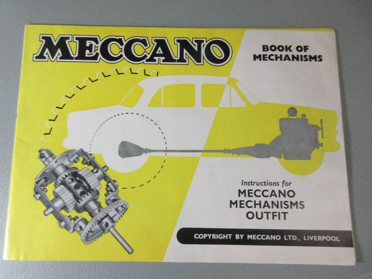 MECCANO Book of Mechanisms Outfit Instruction Manual Vtg Original  #Meccano #ConstructionManual