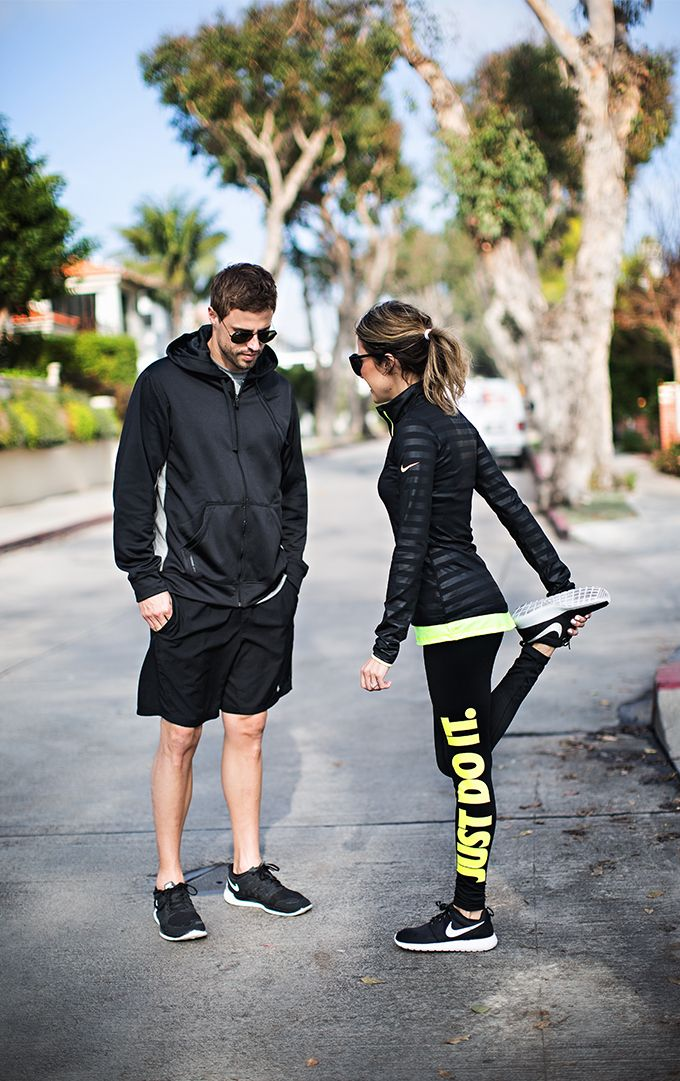 DETAILS: BlackStripe Pullover(size small - also love this one for colder temperatures)|| Neon Tank(size small - color: volt) || Black & Neon Leggings (size xs) || Sneakers(size 8 - love th...