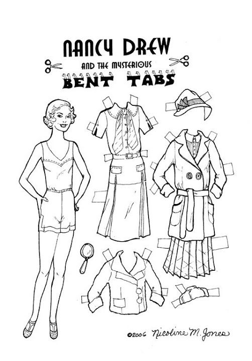 nancy drew coloring pages - photo#19
