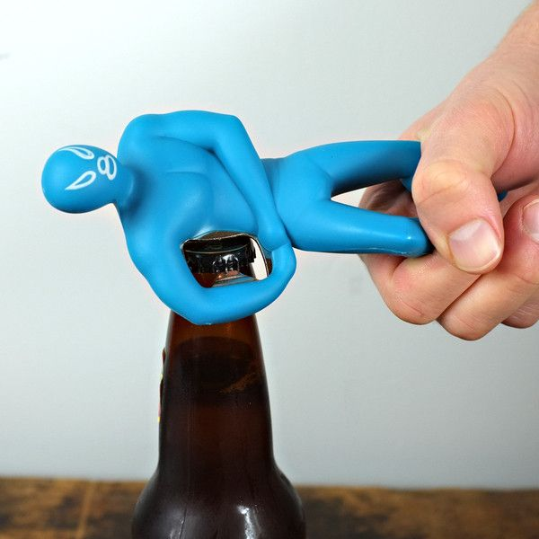 To help you wrestle the cap off your bottle...