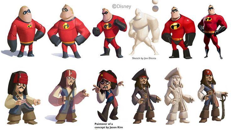 絵師が公開する『ディズニーインフィニティ』のキャラクター・デザインの裏側。多数の登場人物を同じテイストに揃えるには...?