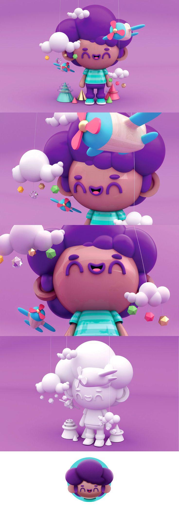 Mi proyecto de diseño de personajes en Cinema 4d: del boceto a la impresion -1