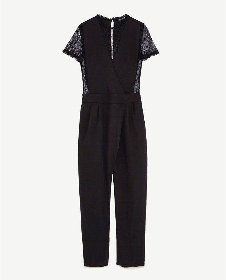 Image 6 of CONTRAST LACE JUMPSUIT from Zara