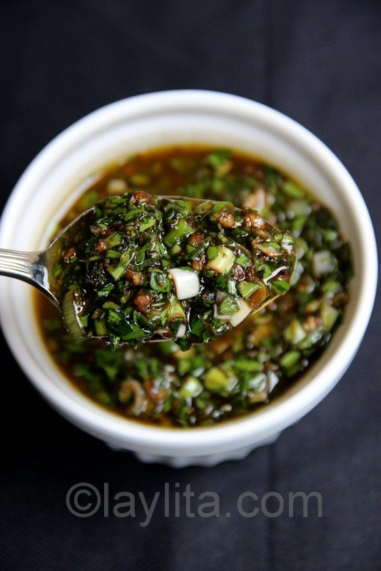 I want to eat a bowl of this right now ----Balsamic chimichurri recipe