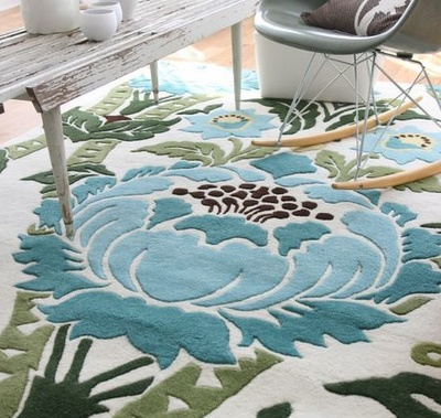 Amy Butler rug - great blue/green combo