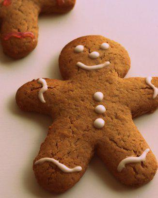 Sablé de Noël en petit bonhomme aux épices de Noël