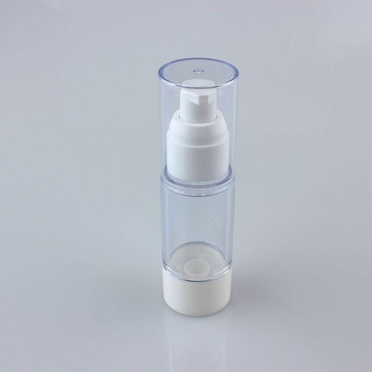 50 UNIDS blanco 30 ml bomba sin aire cosmética embalaje, blanco proveedores botella de bomba sin aire, ronda de 30 ml envases cosméticos suministros(China (Mainland))