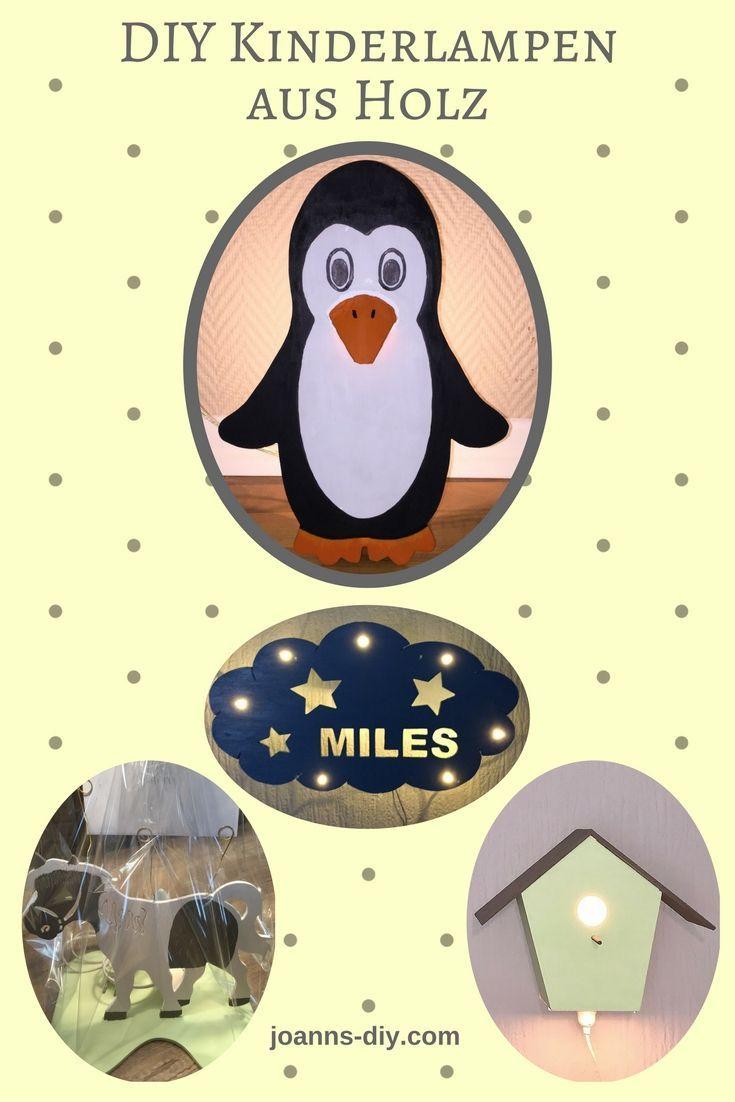 Pinguin Lampe Aus Holz Kinder Lampen Kinderlampen Aus Holz Pinguine