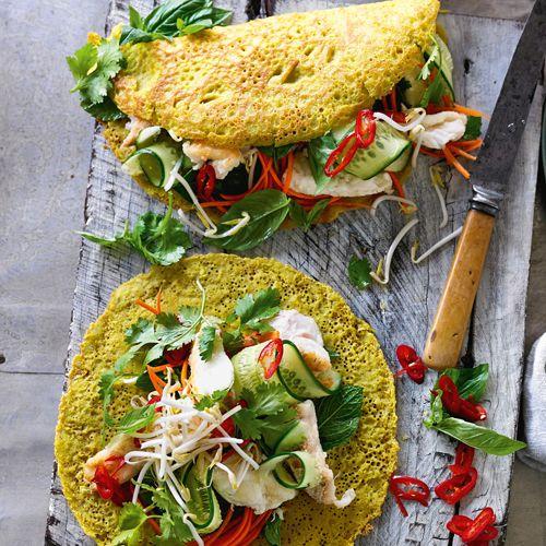Vietnamese pancakes with fish