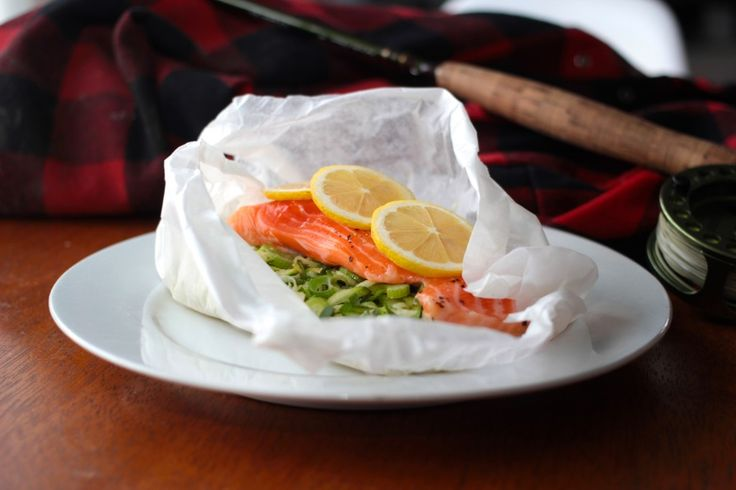 Paper Baked Salmon with Lemon and Fennel