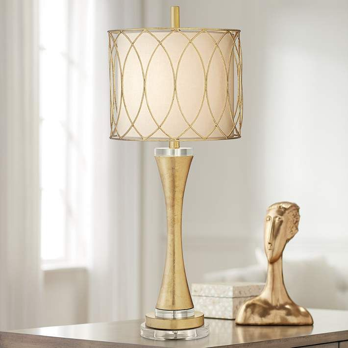 Treviso Curvy Gold Leaf Metal Table Lamp 70x26 Lamps Plus Metal Table Lamps Lamp Table Lamp