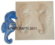 SMALL SEAHORSE PLASTER MOLD (2 on 1)
