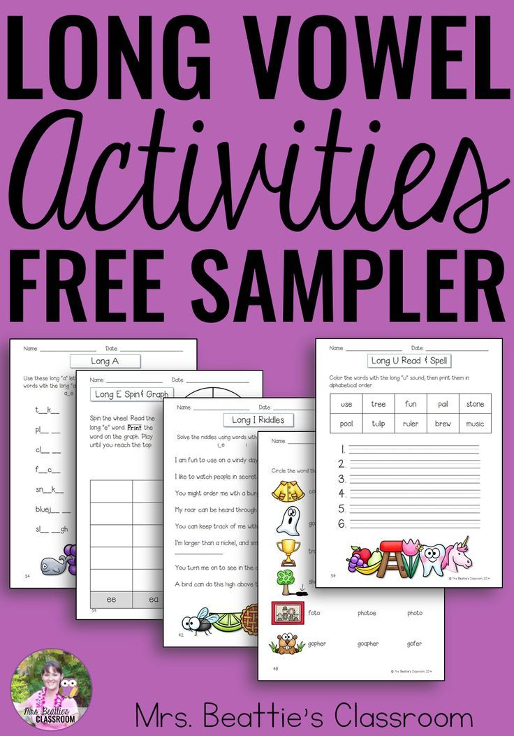 Are you teaching long vowels in your primary classroom? This is a FREE SAMPLE of the 112-page Ultimate Resource for teaching your students about long vowel spelling patterns containing fun games and activities your students will love! #wordwork #longvowels #ela #free