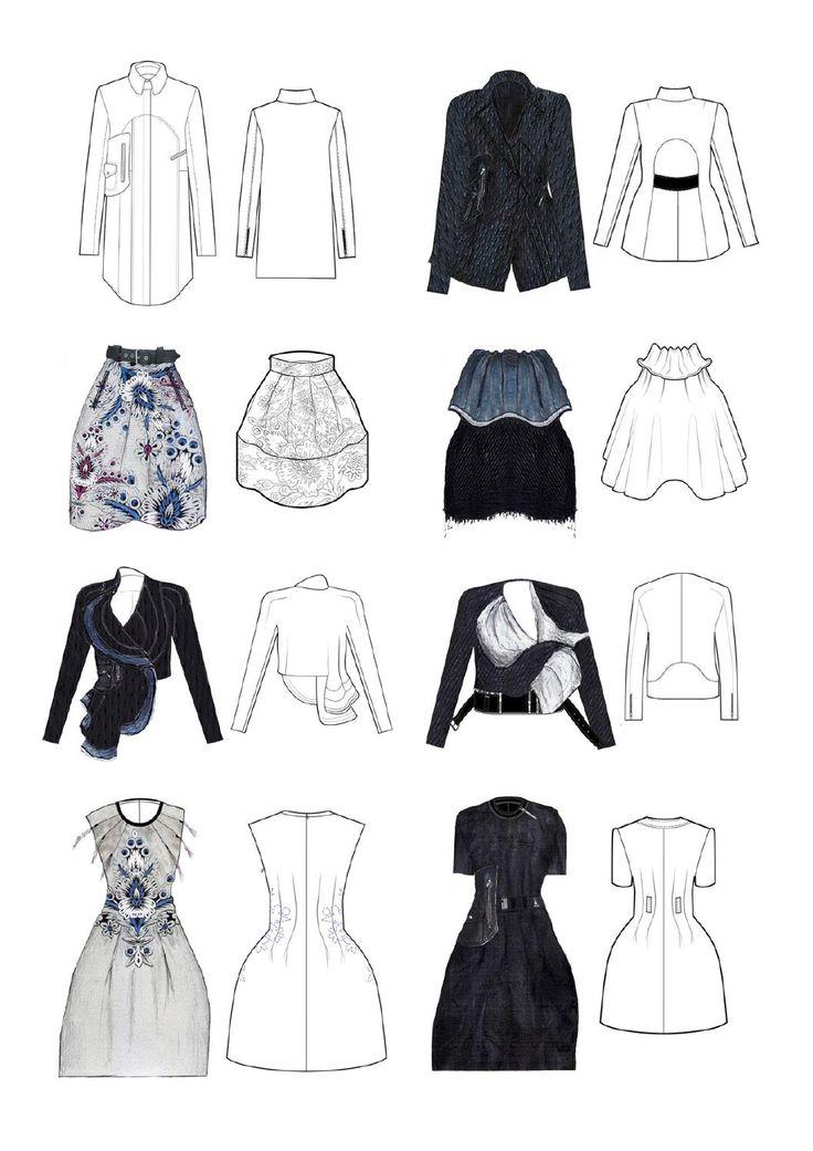 Fashion Sketchbook - technical fashion drawings; fashion design flats; fashion portfolio // Sam Towner