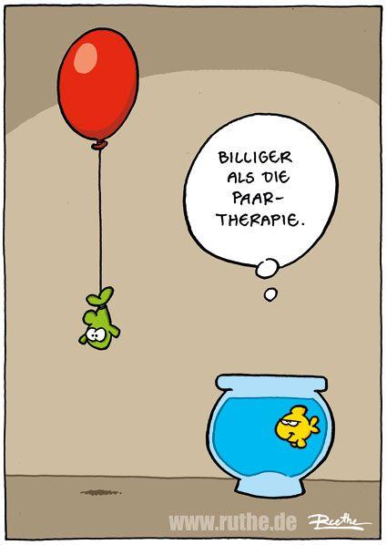 fisch paar paartherapie ballon luftballon wasser aquarium goldfischglas billiger mann frau beziehung