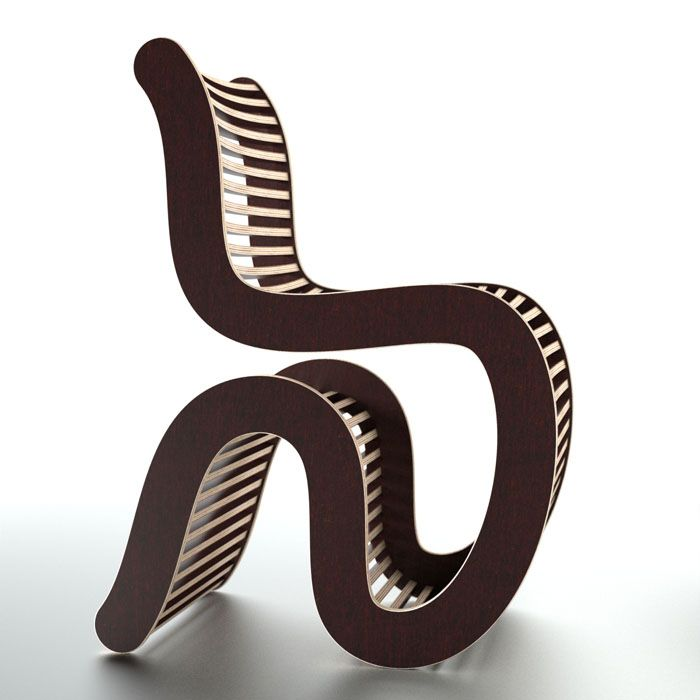 Spline Chair by Unto This Last (laminated plywood)