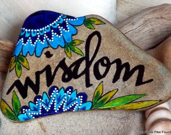 wisdom -painted rocks For Sale