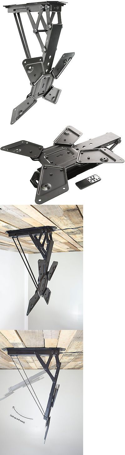 TV Mounts and Brackets: Electric Motorized Flip Down Pitched Roof Ceiling Tv Mount For 23 To 55 Screen BUY IT NOW ONLY: $139.99