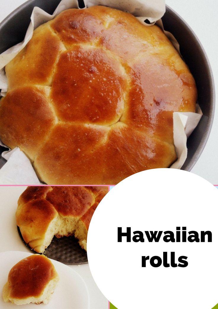 Hawajskie bułki do odrywania. #Hawaiian #rolls Mięciutkie, pięknie wyrastają w piekarniku i słodkawe.