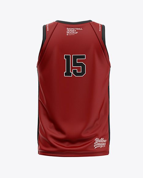 Download Mens V-Neck Basketball Jersey Mockup Back View (PSD ...