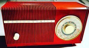 RADIO VINTAGE A VALVOLE RADIOMARELLI ANNI '60 Rosso Aragosta 📻📻📻 | eBay