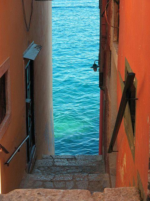 Stairs to the Sea, Rovinj, Croatia