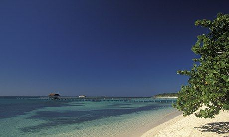Punta Frances beach on Isla de la Juventud, Cuba.