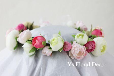 白ピンクの花冠  ys floral deco  @グアム