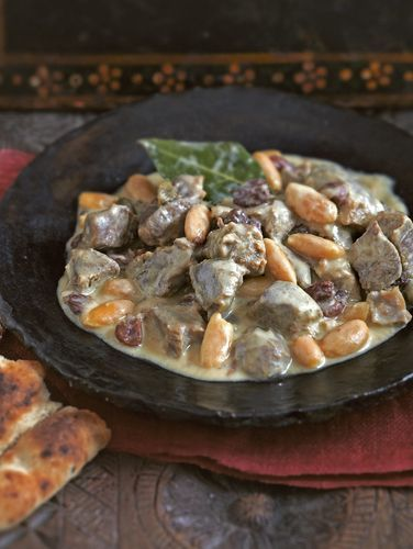 Kashmiri Lamb Dumpukht from Madhur Jaffrey's book Curry Easy.'Dumpukht' cookery was made popular in India by the Moghul courts, starting around the 16th century