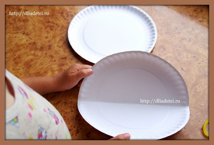 поделки с детьми, поделки сделанные детьми, поделки +из одноразовых тарелок, поделки +из бумажных тарелок, поделки +из пластиковых тарелок фото, поделка собачка, детские поделки +из бросовых материалов, поделки +из бумаги +для детей,