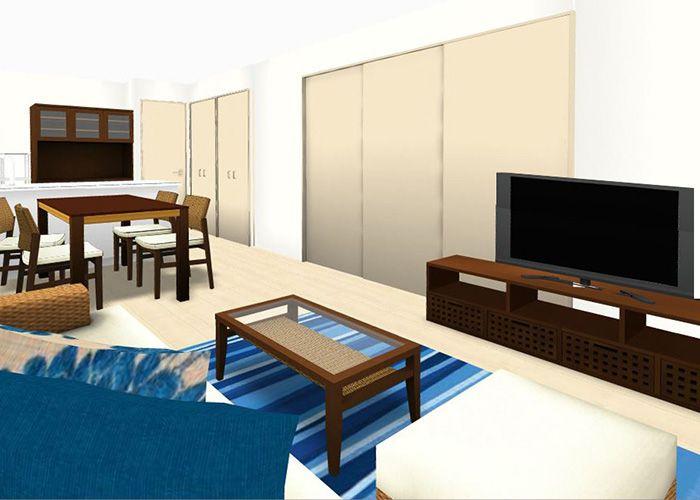 リビングダイニングルーム 2ldk 10畳 A 3d 部屋 インテリア インテリアコーディネート 実例