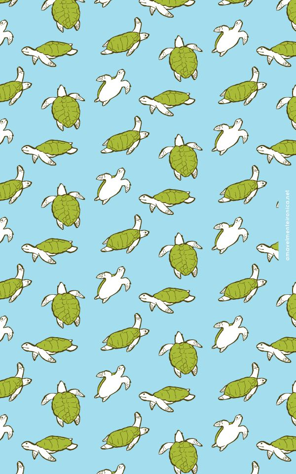 Mobile Wallpaper - Tartaruga Oliva/Olive Turtle - Amavelmente Irônica Blog (Click on the link to download)