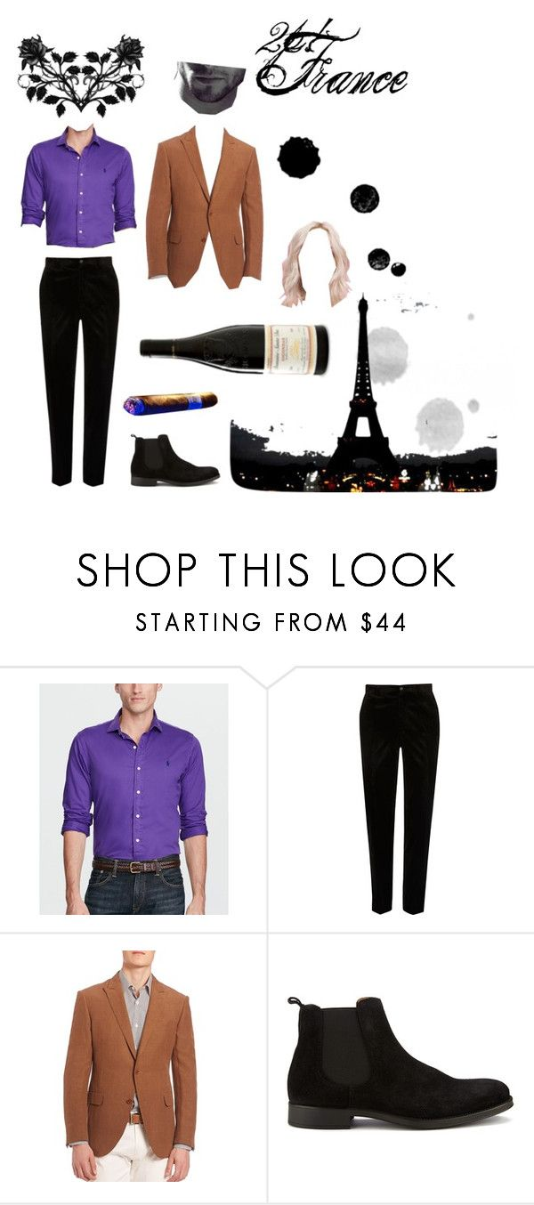 """""""2p! France"""" by l3633096 ❤ liked on Polyvore featuring Polo Ralph Lauren, River Island, Pal Zileri, SELECTED, men's fashion, menswear, anime, france, Hetalia and 2p"""